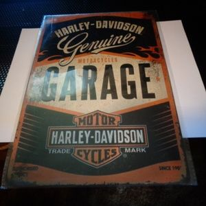 8X10 NCH HARLEY METAL SIGN